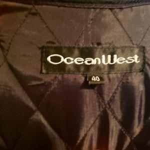 Ocean West Mens Leather Jacket. EUC